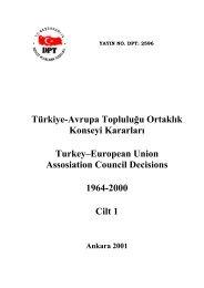 Türkiye-AT Ortaklık Konseyi Kararları - Avrupa Birliği Bakanlığı