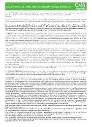 Contrato Tarjeta de Crédito CMR Falabella/CMR Falabella ...