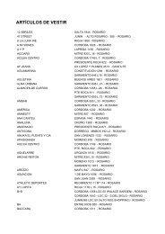 ARTICULOS DE VESTIR - CMR Falabella