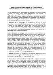 BASES DE LA PROMOCION - CMR Falabella
