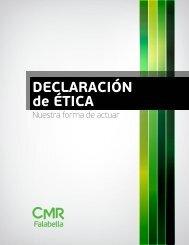 DECLARACIÓN de ÉTICA - CMR Falabella