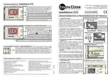 Istruzioni c54 fantini cosmi for Intellitherm c57