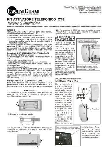 Istruzioni c56 fantini cosmi for Intellitherm c57