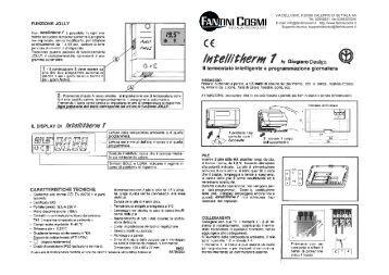 Istruzioni em70 fantini cosmi for Fantini cosmi ch140gsm