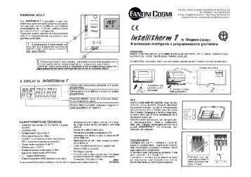 Istruzioni p61 p62 fantini cosmi for Istruzioni termostato fantini cosmi