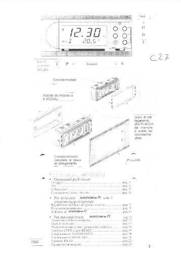 Istruzioni c47 fantini cosmi for Istruzioni termostato fantini cosmi