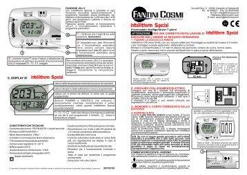 Istruzioni c56 fantini cosmi for Cronotermostato fantini cosmi ch141