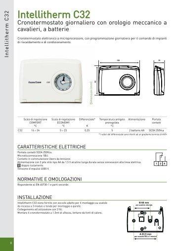 Intellitherm c52 c54 fantini cosmi for Intellitherm c31 prezzo
