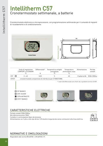 Intellitherm plus c46a fantini cosmi for Intellitherm c57