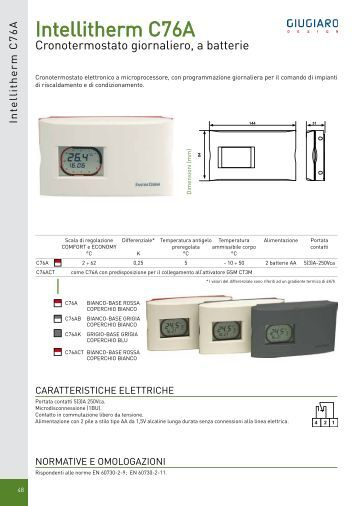 Intellitherm plus c46a fantini cosmi for Fantini cosmi c32