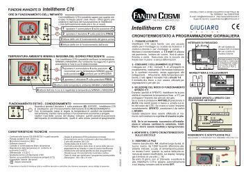 Istruzioni c51t fantini cosmi for Fantini cosmi c51t
