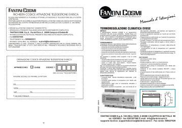 Istruzioni p61 p62 fantini cosmi for Fantini cosmi c51t