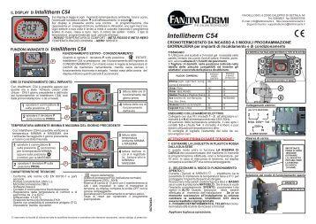 Istruzioni c51t fantini cosmi for Cronotermostato fantini cosmi intelli therm c31