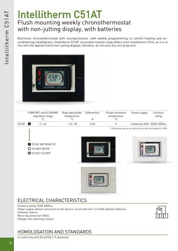 Encased thermostats fantini cosmi for App fantini cosmi ch140gsm