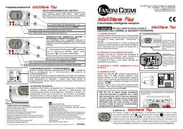 Istruzioni c56 fantini cosmi for Fantini c57