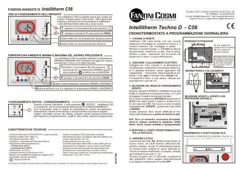 istruzioni c56 fantini cosmi