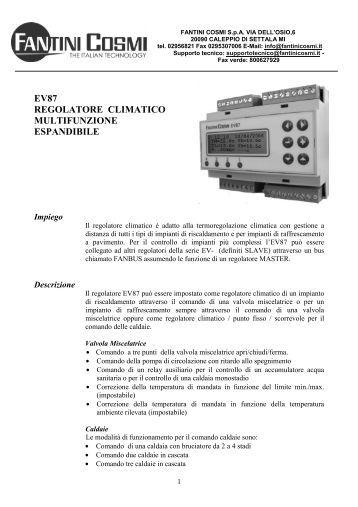 Istruzioni em70 fantini cosmi for Istruzioni termostato fantini cosmi