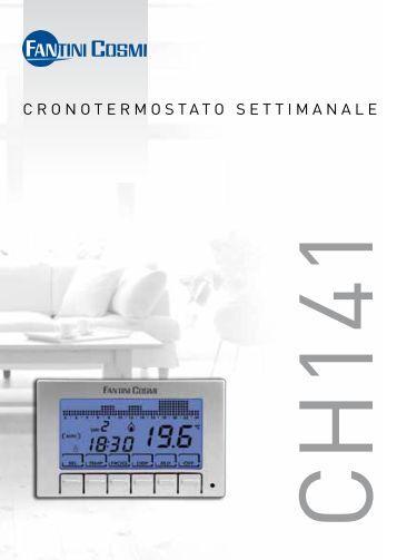 Istruzioni c75 fantini cosmi for Cronotermostato fantini cosmi ch141