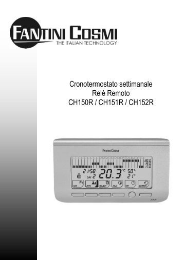 Ocm1a fantini cosmi for Istruzioni termostato fantini cosmi
