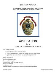 APPLICATION - Alaska Department of Public Safety - State of Alaska