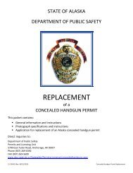 REPLACEMENT - Alaska Department of Public Safety - State of Alaska