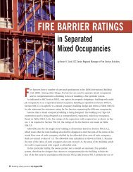 FIRE BARRIER RATINGS