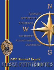 2008 Annual Report - Alaska Department of Public Safety - State of ...