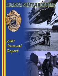 2007 Annual Report - Alaska Department of Public Safety - State of ...