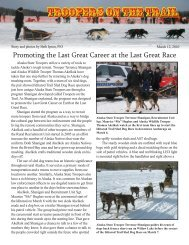 Troopers on the trail - Alaska Department of Public Safety