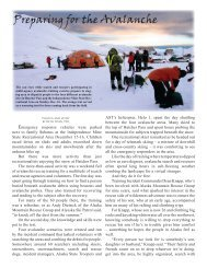 Preparing for the Avalanche - Alaska Department of Public Safety