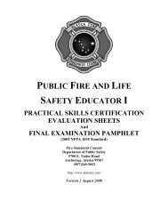 Public Fire and Life Safety Educator I Skill Sheets - Alaska ...