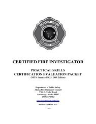 certified fire investigator - Alaska Department of Public Safety