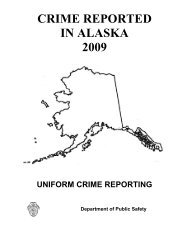 Crime Reported in Alaska 2009 - Uniform Crime Reporting