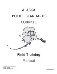 ALASKA POLICE STANDARDS COUNCIL Field Training Manual