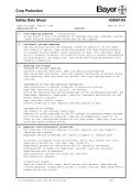 Crop Protection Safety Data Sheet 439561/03 - Bayercropscience ... - Page 2