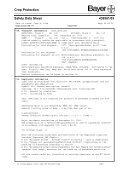 Crop Protection Safety Data Sheet 439561/03 - Bayercropscience ... - Page 4