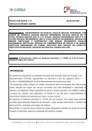 Ofício Circular nº 27/2007/DSAPOE - Direcção Regional de ...