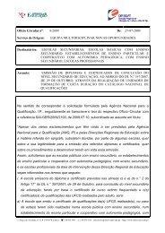 Ofício Circular nº: 8/2009 De - Direcção Regional de Educação de ...
