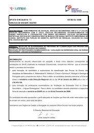 Ofício Circular nº 3 - Direcção Regional de Educação de Lisboa