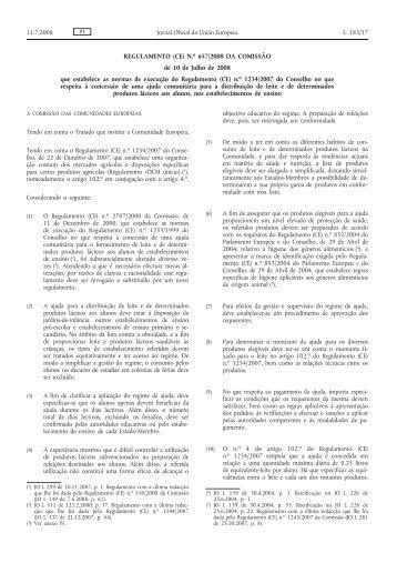 REGULAMENTO (CE) N.o 657/2008 DA COMISSÃO de 10 de Julho ...