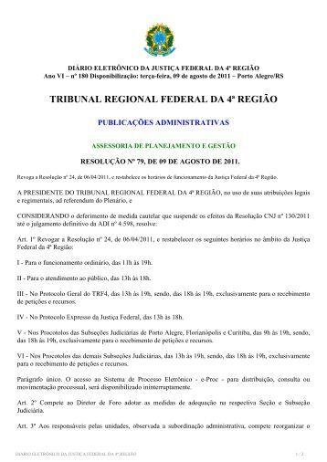 TRIBUNAL REGIONAL FEDERAL DA 4ª REGIÃO - Justiça Federal