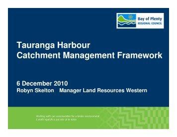 Tauranga Harbour Catchment Management Framework