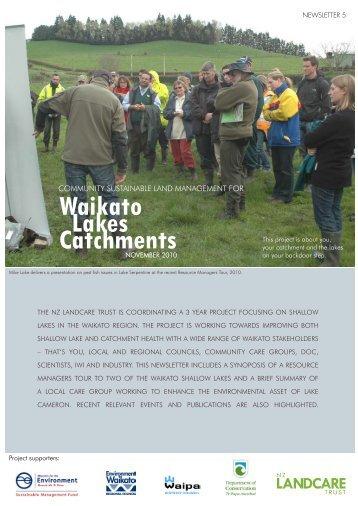 Waikato Lakes Catchments - Landcare Trust