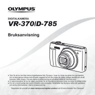 Bruksanvisning VR-370/D-785 - Olympus