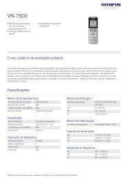 VN-7500, Olympus, Audio Recording