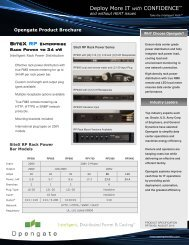 Rack Power Solutions Family - Opengate Data Systems
