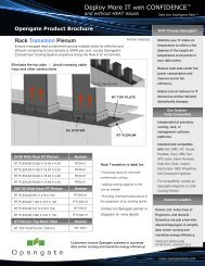 RT Product Brochure: Rack Transition - Opengate Data Systems