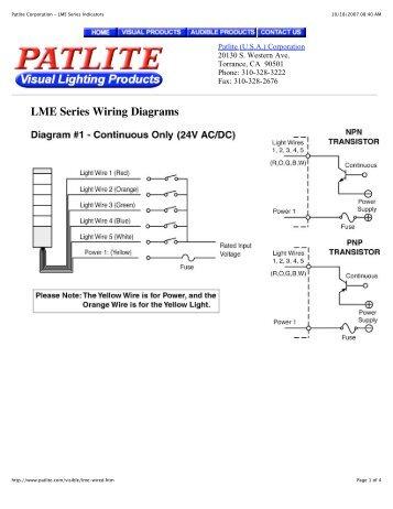 Patlite Met Wiring Diagram Wiring Diagram Home