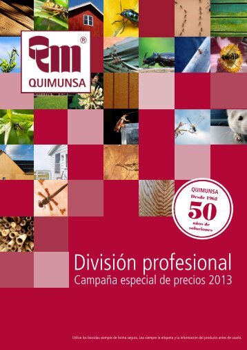 División profesional - Quimunsa