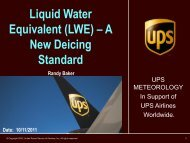 Liquid Water Equivalent (LWE) – A New Deicing Standard - RAL